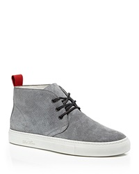 Del Toro Perforated Suede Chukka Sneakers Grey