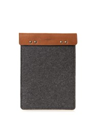 Hard Graft Sport Leather And Felt Ipad Case And Stand