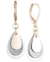 Nine West Tri Tone Layered Earrings Tri Tone