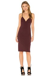 Alexander Wang Fitted Spaghetti Strap Dress Burgundy