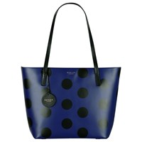 Radley Rochester Large Zip Top Leather Tote Bag Indigo