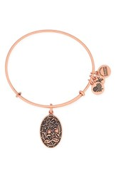 Women's Alex And Ani 'I Love You Sister' Expandable Wire Bangle Rose Gold