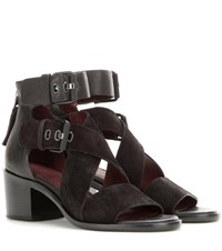 Rag And Bone Madrid Suede And Leather Sandals Black