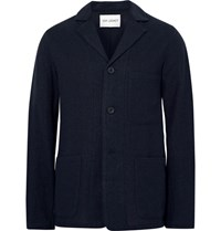 Our Legacy Blue Unstructured Virgin Wool Blazer Midnight Blue