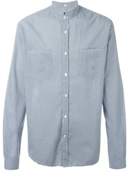 Golden Goose Deluxe Brand Gingham Check Shirt Blue