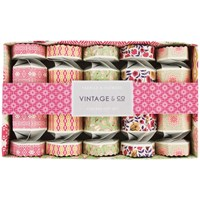 Heathcote And Ivory Vintage Fabric Flowers Crackers Gift Set