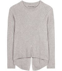 81 Hours Lavina Ribbed Merino Wool Sweater Grey