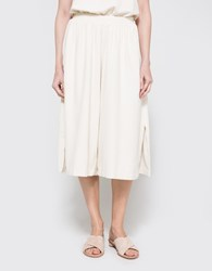 Black Crane Slit Wide Culotte Cream