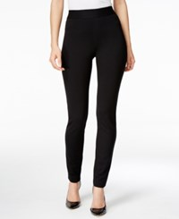 Inc International Concepts Tummy Control Curvy Fit Skinny Pants Only At Macy's Deep Black