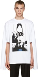 Hood By Air White Montgomery Graduation T Shirt