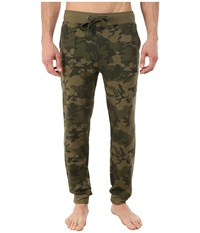 2Xist Core Terry Sweatpant Olive Camo Men's Casual Pants Green