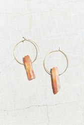Urban Outfitters Summer Crystal Sand Hoop Earring Gold