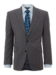 New And Lingwood Swindale Peak Prince Of Wales Check Suit Jacket Grey