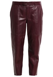 Strenesse Peyton Leather Trousers Bordeaux