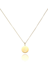 Sarah Chloe Gold Eva Initial Necklace