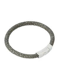 Tateossian Galuchat Stingray Bracelet Unisex Dark Grey