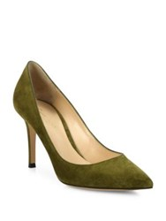 Gianvito Rossi Gianvito Suede Point Toe Pumps Red Green Black Brown