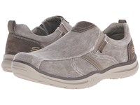 Skechers Relaxed Fit Elected Payson Light Brown Canvas Men's Shoes Gray