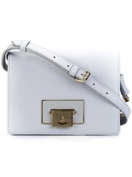 Vivienne Westwood Small Flap Closure Cross Body Bag Grey