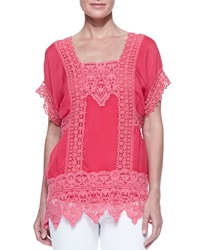 Johnny Was Lacey Insert Georgette Top