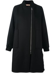 N 21 No21 Faux Fur Panel Bomber Coat Black