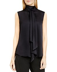 Vince Camuto Tie Neck Sleeveless Blouse Rich Black