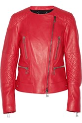 Belstaff Cheshire Leather Biker Jacket Red
