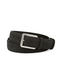 Stefano Ricci Python Belt W Palladium Buckle Black Men's