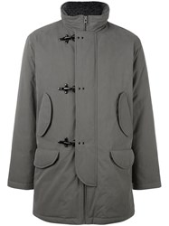 Fay Duffle Style Detail Jacket Grey