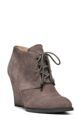 Franco Sarto Women's 'Lennon' Lace Up Wedge Bootie Nimbus Grey Suede