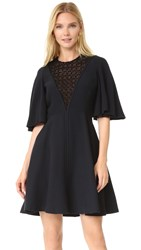 Giambattista Valli Short Sleeve Dress Black