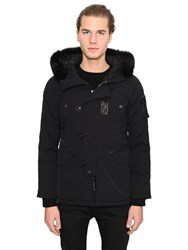 Duvetica Learco Cotton Blend Down Jacket W Fur
