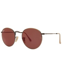 Ray Ban Sunglasses Ray Ban Rb3447 50 Round Metal Bronze Matte Red Mirror