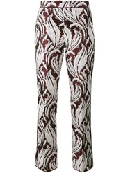 Giambattista Valli Embroidered Cropped Trousers Multicolour