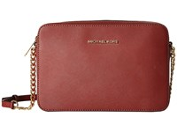 Michael Michael Kors Jet Set Travel Lg Ew Crossbody Brick Cross Body Handbags Red
