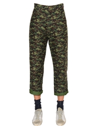 Golden Goose Camo Printed Cotton Denim Jeans Camouflage