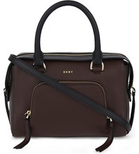 Dkny Chelsea Vintage Leather Satchel Ox B Brn Blk