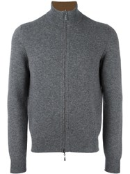Malo Zipped Cardigan Grey