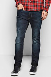 Boohoo Fit Dark Wash Jeans Blue
