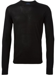 Lanvin Crew Neck Light Sweater Black