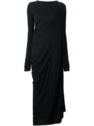 Rick Owens Lilies Draped Maxi Dress Black