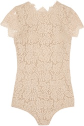I.D. Sarrieri La Belle Chantilly Lace Bodysuit Nude