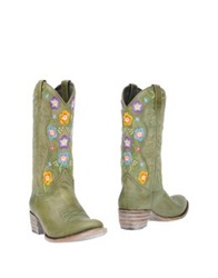 Sendra Ankle Boots Military Green