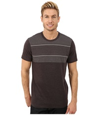 Prana Marco Crew Black Heather Men's Short Sleeve Pullover