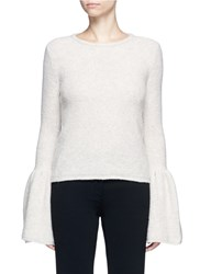 Co Bell Cuff Cashmere Boucle Sweater Neutral