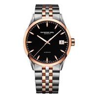 Raymond Weil 2740 Sp5 20011 Men's Freelancer Date Two Tone Bracelet Strap Watch Silver Rose Gold