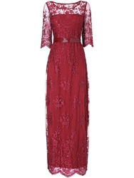 Phase Eight Selena Lace Beaded Full Length Dress Pink