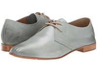 Frye Jillian Oxford Aqua Soft Vintage Leather Women's Lace Up Casual Shoes Gray