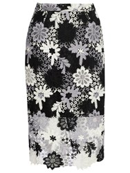 True Decadence Crochet Lace Skirt White Black