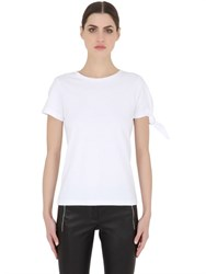 J.W.Anderson Cotton Jersey T Shirt With Knot Detail